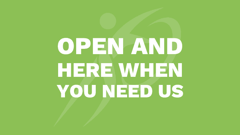 We're Open and Committed to Keeping You Safe (1)
